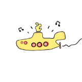 "Kleines ""Yellow Submarine"": Illustration von Luzie Hofmann"